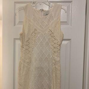 Greylin Women's elegant knit Lace Sleeveless Dress